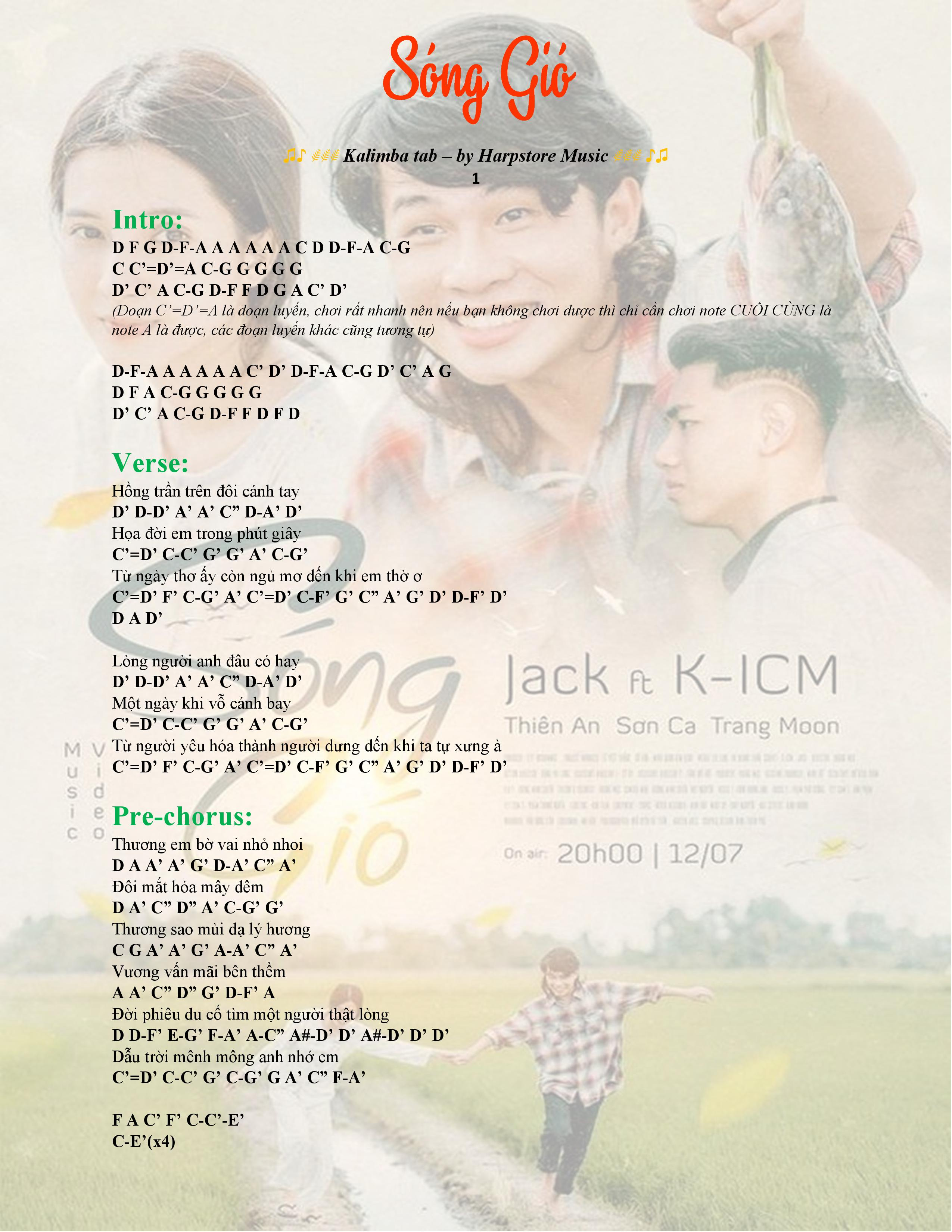 Kalimb tab song gio kicm jack 01