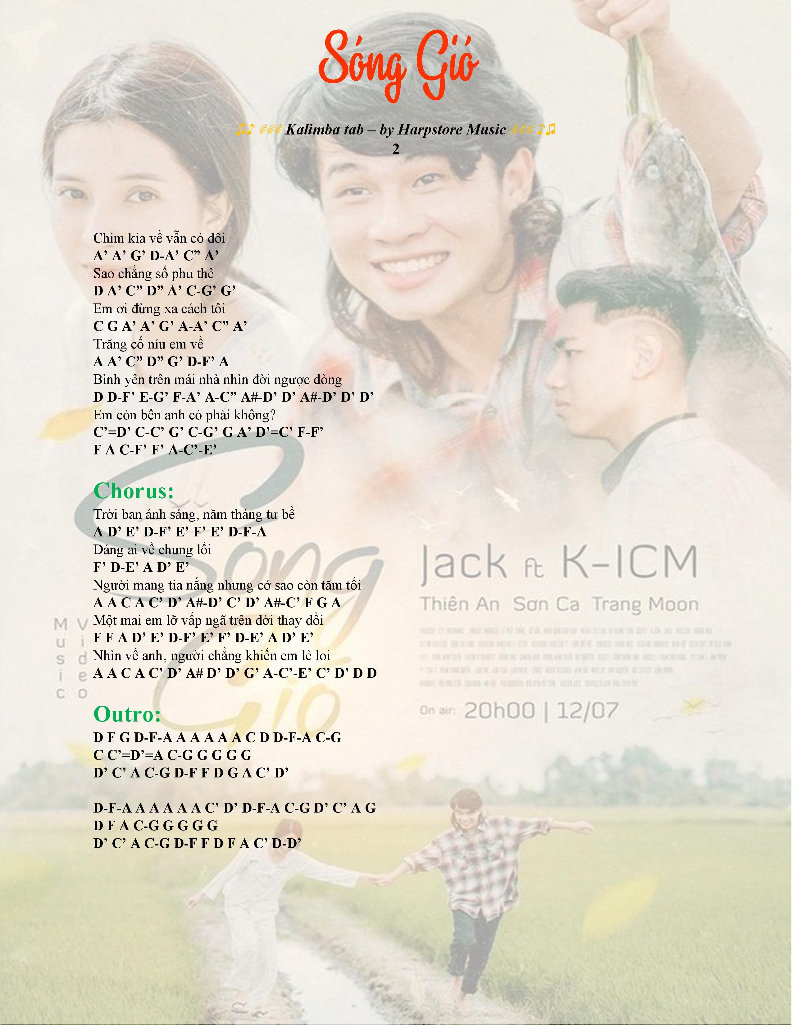 Kalimb tab song gio kicm jack 02