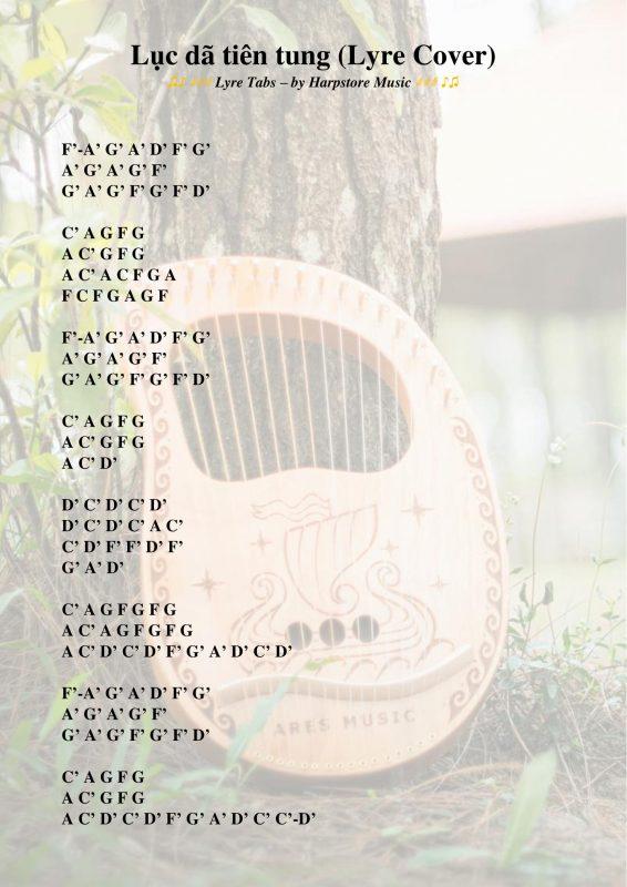 Lục dã tiên tung (Lyre Tabs kí hiệu)-2